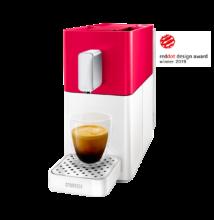 Cremesso EASY piros/fehér kapszulás kávéfőző most ajándék tejhabosítóval