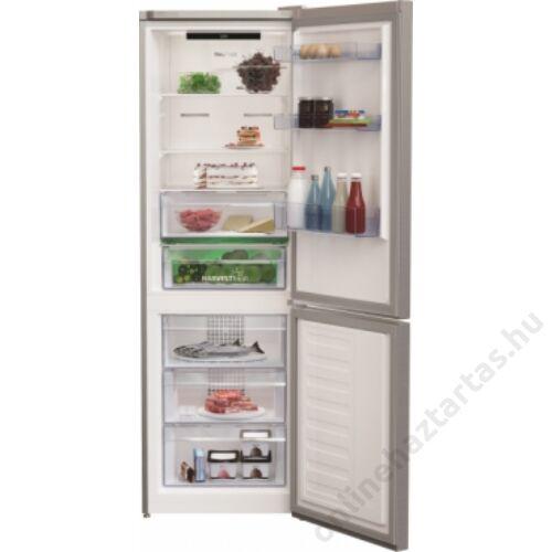 Beko RCNA366E40 ZXBN alulfagyasztós hűtőszekrény 5 év garanciával