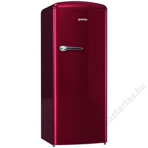 Gorenje ORB153R egyajtós hűtószekrény burgundi vörös A+++ 3 év garanciával